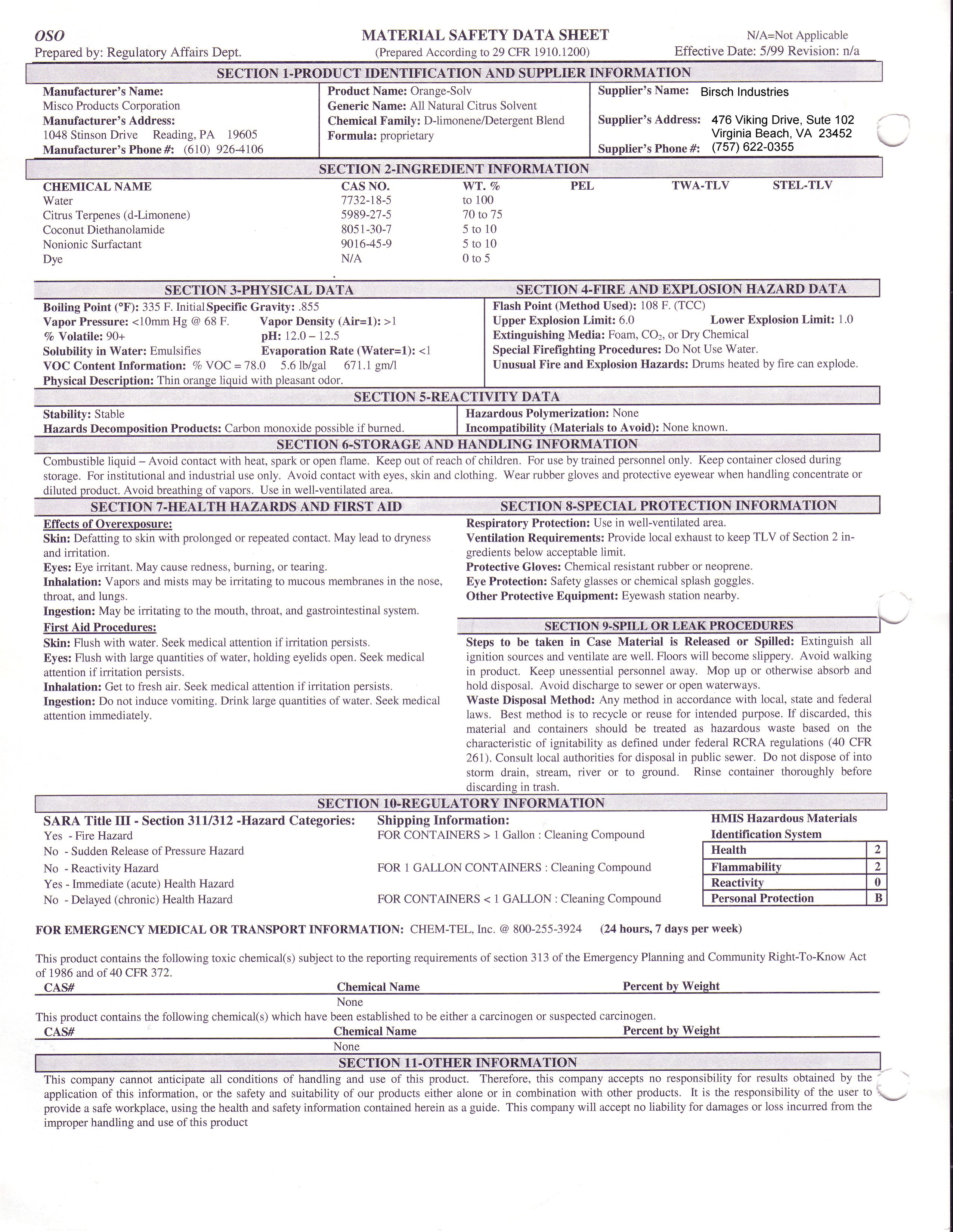 Spray Paint Msds Sheets Part - 25: Index Of /MSDS Sheets/Additional