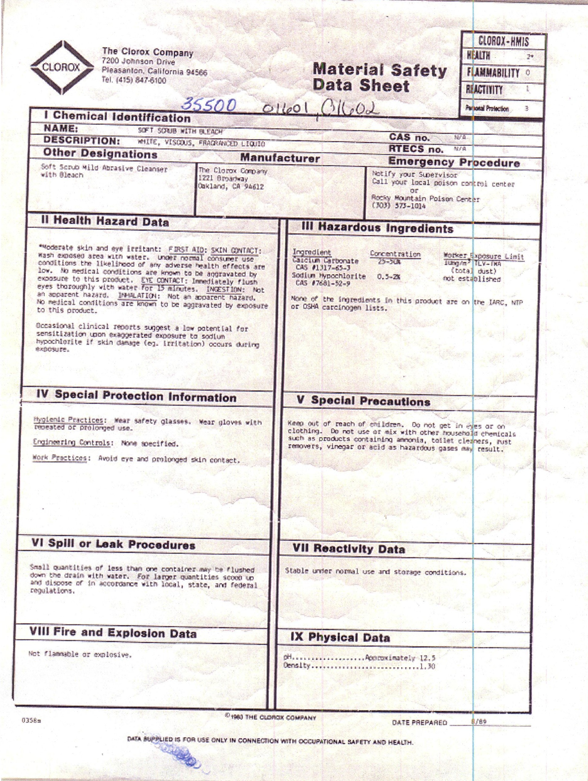 Spray Paint Msds Sheets Part - 23: Index Of /MSDS Sheets/Additional